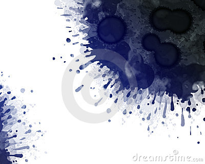 Big dark blue ink blot