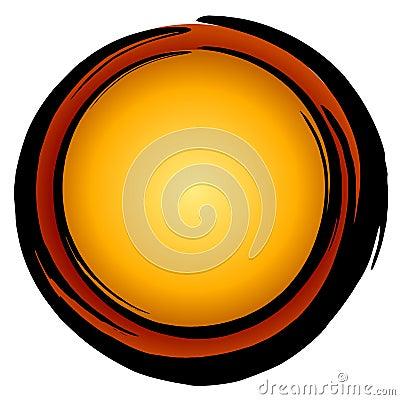 Free Big Dark Gold Red Circle Icon Stock Image - 2719581