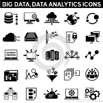 Free Big Data Icons Stock Photography - 40851342