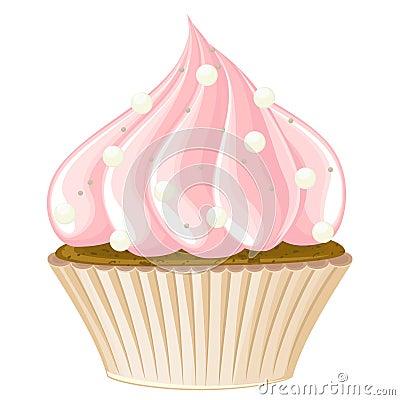 Big detailed cupcake