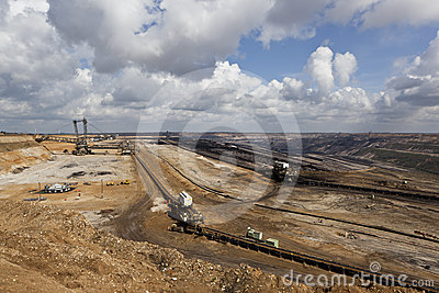 Big digger in open-cast coal mine Editorial Image