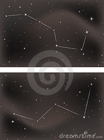 The Big Dipper and Cassiopeia