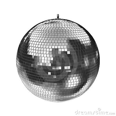 A big disco mirrorball