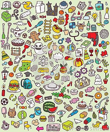 Big Doodle Icons Set