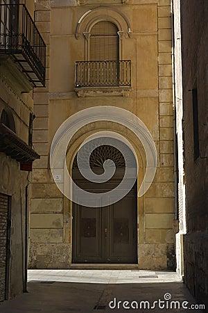 Big door with arch