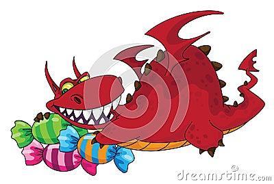 Big dragon with sweets