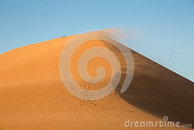 Big dune and tourists