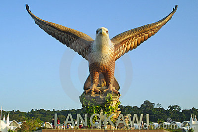 Big eagle statue on Langkawi island Editorial Photography