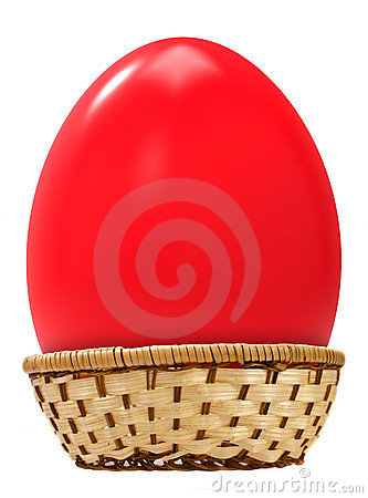 Free Big Easter Egg In Basket Royalty Free Stock Photo - 23611455