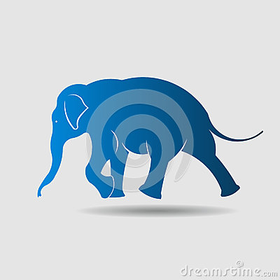 Free Big Elephant Image Logo In Walking Movement. Royalty Free Stock Image - 39450126
