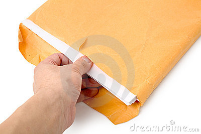 Big envelope and document
