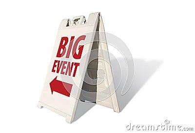 Big Event Tent Sign