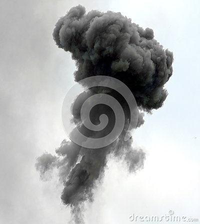 Free Big Explosion With Black Cloud Stock Photo - 79154780