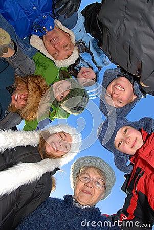 Free Big Family Royalty Free Stock Photo - 4190685
