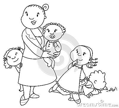 Big family vector