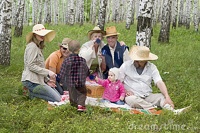 Big family picnic