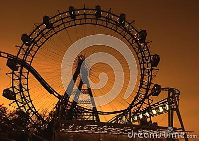 Big ferries wheel in Vienna