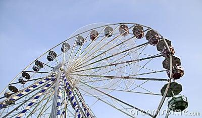 Big ferris wheel in attraction park
