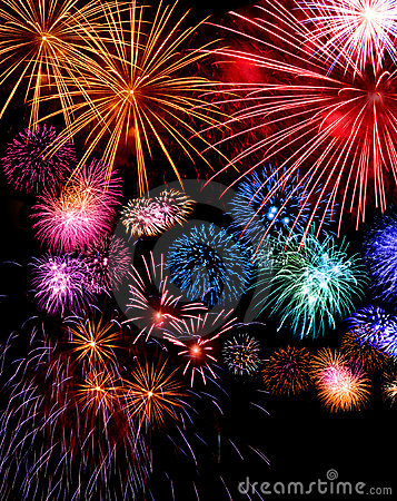 Big fireworks display festive