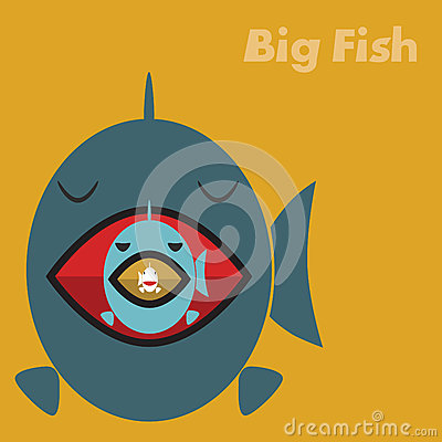 Big fish eating a small fish stock photography image for Big fish eat little fish