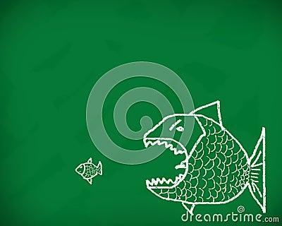 Big fish eats the small