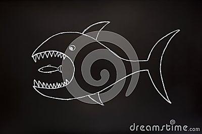 Big fish eats small one