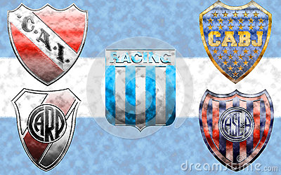 The Big Five of Argentine football Editorial Stock Photo