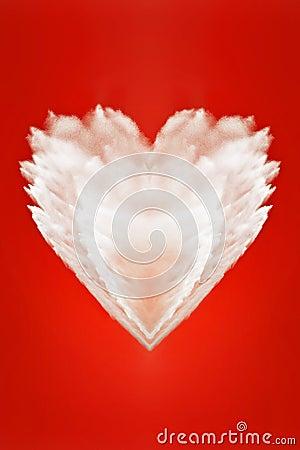 Big fluffy white heart of love
