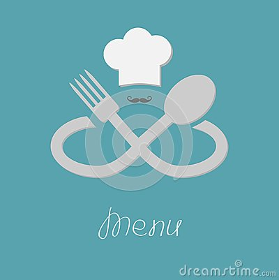 Big fork spoon infinity sign chef hat and stock vector - Infinity chefs opiniones ...