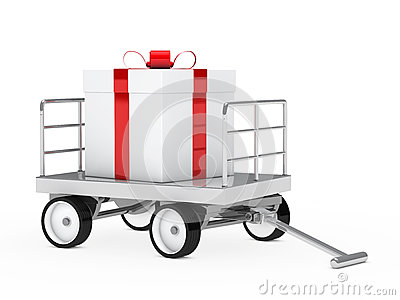 Big gift on trolley