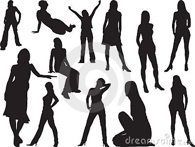 Big girls set - 1. Silhouettes
