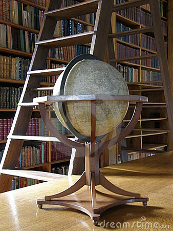 Big globe in the library