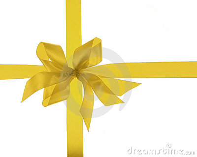 Big gold holiday ribbon