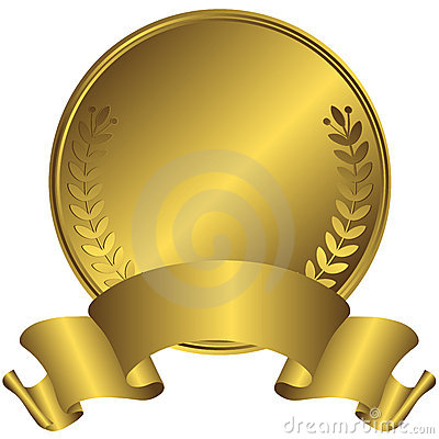 Free Big Gold Medal (vector) Stock Photo - 10756800