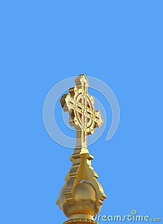 Big golden cross
