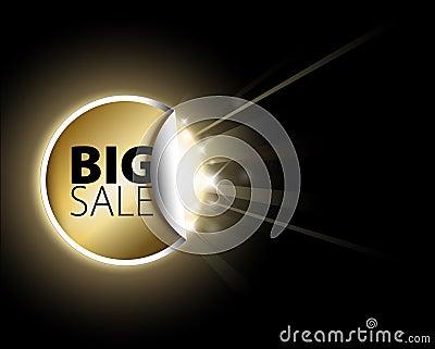 Big golden sale label