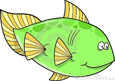 Big Green fish Vector