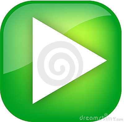Free Big Green Play Button Stock Images - 5012804
