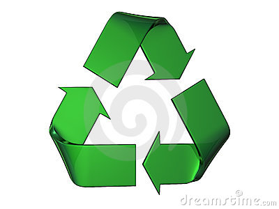 Big green recycle s logo