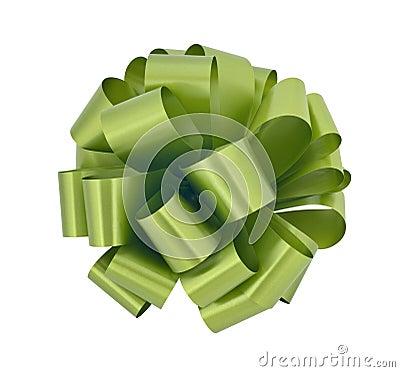 Big green ribbon bow cutout