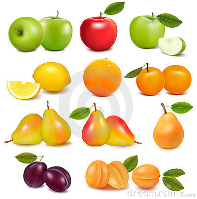 Free Big Group Of Different Fresh Fruit. Stock Image - 23491141