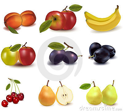 Free Big Group Of Different Fruit. Royalty Free Stock Photo - 15421155
