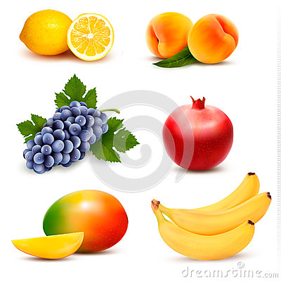 Free Big Group Of Different Fruit. Royalty Free Stock Photo - 50461435