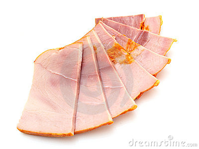 Big group of thinly sliced meat