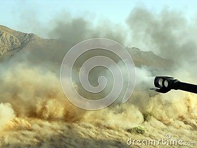 Big gun blast in Afghanistan