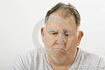 Big guy depressed