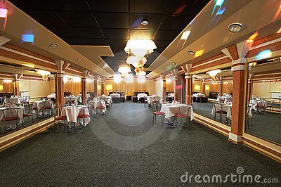The big hall of restaurant