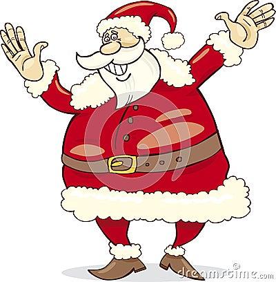 Big happy santa claus