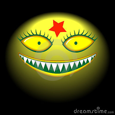 Big Head Monster Evil Smile Mask Royalty Free Stock Photo - Image: 23740515