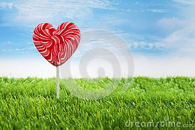 Big heart lollipop horizontal